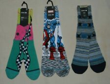 3 Lot Stance Captain America Comic Pasqual Socks Classic Crew Height L 9-12