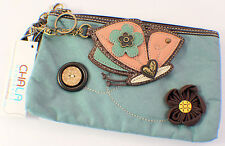 Chala Fanicful Butterfly Purse Clutch Suede Leather Credit Cards Coins Key Chain