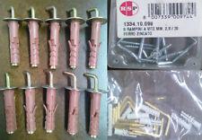 38 Rampini e Tasselli in nylon con gancio medio in acciaio per mura e pareti