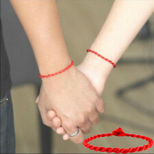 2Pcs Women Men Red String Lucky Bracelet Jewelry Against Evil Eye for Success
