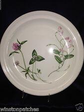 """PORTMEIRION ENGLAND THE QUEEN'S HIDDEN GARDEN PINK FLOWERS DINNER PLATE 10 3/8"""""""