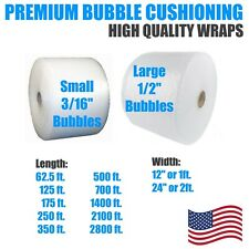 """Packing Bubbles 1/2"""" or 3/16"""" Bubble 12"""" or 24"""" Wide Wrap Cushion Protection"""