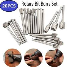 20pc 3mm Solid Carbide Burrs Fr Dremel Rotary Tool Drill Die Grinder Carving Bit