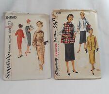 Vintage MCM Women's Sewing Patterns SIZE 12 BUST 30 32 SIMPLICITY RETRO DRESSES