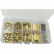 160pcs M25 Brass Spacer Standoffstainless Steel Screwnut Assortment Kit Ampamp