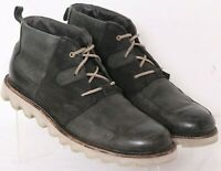 Sorel Mad Desert Black Lace-Up Leather Casual Chukka Boots Men's US 9.5