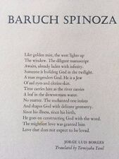 BARUCH SPINOZA *BY JORGE LUIS BORGES*