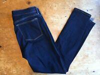 J Crew Womens Jeans Size 29/30 Dark Wash Slim Skinny Cotton Stretch B45