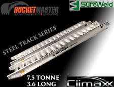 excavator, bobcat, positrack steel track Aluminium ramps  7.5T