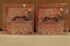 TARINA TARANTINO CLEAR BEADED AND SKULL BRACELET MADE WITH SWAROVSKI LOT OF 2