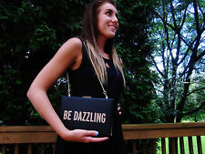 NEW Kate Spade NY BE DAZZLING Crystal Court Emanuelle Clutch BOOK NWT BLACK