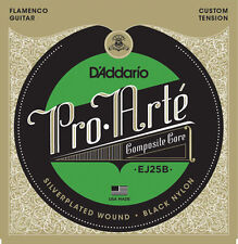 D' Addario ej25b cordes pour guitare flamenco Black Nylon