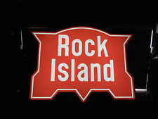 Rock Island Railroad lighted sign