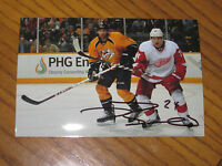 DAMIEN BRUNNER AUTOGRAPHED DETROIT RED WINGS 4X6 PHOTO # 6