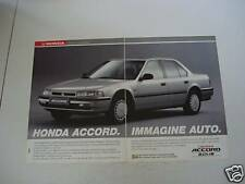 advertising Pubblicità 1991 HONDA ACCORD 2.0i - 16