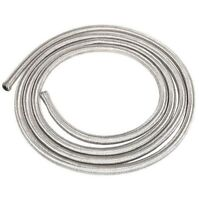 "3m of 6mm (1/4"") Fuel Hose Stainless Steel Braided 6 mm Length SAE30R6/R7"