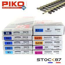 Piko Rail droit et courbe code 100 -HO-1/87-PIKO au choix dans l'annonce