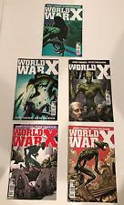Lot of 5 Titan Comics WORLD WAR X (2017) 1A,1B,1C,1D,1E - JERRY FRISSEN