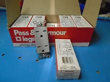 Free Ship, 10 Count Box, Pass & Seymour 26652-GRY Duplex Receptacles, 15a 250v
