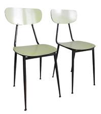 Coppia di sedie vintage in ferro e formica - anni 50-60 - modernariato -