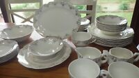 Vintage Dinnerware set Stetson STT431 Gold Filigree scalloped edge 1950s USA 43p