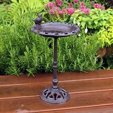 Cast Iron Bird Bath Outdoor Garden Antique Vintage 31cm New Bird & Wildlife Accessories
