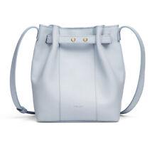 DeMellier London THE NAPLES BAG in light blue leather Bucket bag