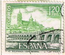 Spain Famous Architecture view of Salamanca Tormes River stamp 1968