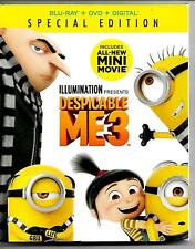 Despicable Me3 Blu-ray/DVD/Digital Special Edition New and Factory Sealed