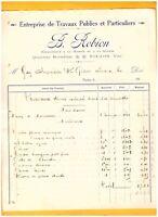 """TOULON (83) Ets de TRAVAUX PUBLICS & MATERIAUX / BTP """"B. ROBION"""" en 1910"""