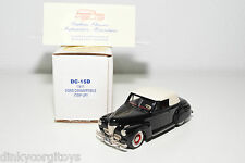 DURHAM DC-15D 15 D FORD TOP UP CONVERTIBLE BLACK 1941 MINT BOXED