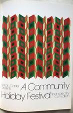 Sheridan Latimer Lincoln Center comunidad Vacaciones Festival 1974 Op Art Poster 46