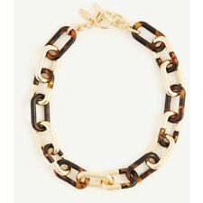 Ann Taylor Chain Link Tortoiseshell Print Necklace NWT $69.50