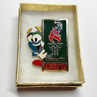 1996 ATLANTA OLYMPIC KEEPSAKE PIN XEROX SPONSOR MASCOT IZZY W/OLYMPIC TORCH #48