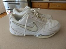 Nike Air Max White Leather Athletic Shoes for Men for sale