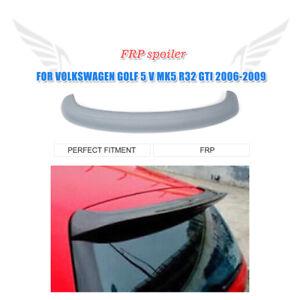 Unpainted Fiberglass Rear Roof Spoiler For Volkswagen Golf 5 V MK5 R32 2006-2009