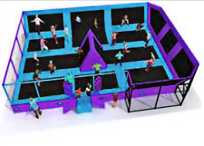 1,250 sqft Commercial Trampoline Park Dodgeball Climb Gym Inflatable We Finance