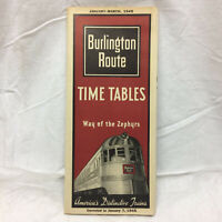 Vintage 1945 Brochure Burlington Route Time Tables The Natonal Park Line