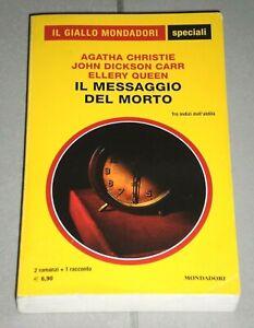 """Christie, Dickson Carr, Queen """"IL MESSAGGIO DEL MORTO"""" Speciali Giallo Mondadori"""