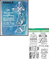 Penny Black Inc 30-409 FAITH Clear Stamp Set Bible Religious Journaling