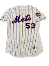 MLB Authenticated - Glenn Sherlock Game-Used Pinstriped NY Mets Jersey