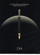 """PUBLICITE ADVERTISING 114  1981  DUPONT  stylos """" le porte- plume"""""""