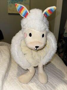 FAO Schwarz Plush Llama Pillow & Blanket Set Fleece So Cute Kids Adults Rainbow