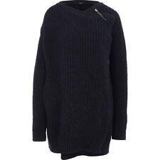Diesel Wrap Cardigan Wool Blend Charcoal Grey Ladies Womens Size UK Medium