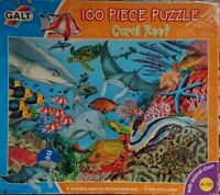 GALT Jigsaw 100 Piece Coral Reef Puzzle Sea Life Scene - One Piece Missing