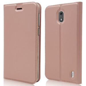 For Nokia 2 Magnetic Leather Flip Wallet Phone Case Protector Cover New
