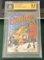 KOBE BRYANT BGS 9.5 GEM MINT 1997-98 FINEST EMBOSSED #137 LOS ANGELES LAKERS