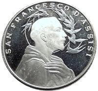 SAINT FRANCIS of ASSISI & Porziuncola Church in Basilica Christian Medal i63558