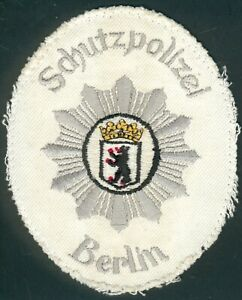 German Police/Berlin City Patch old withe Uniform, 60/70Year´s RARE, I/II