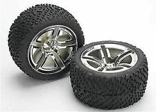 Traxxas 5573 Rear Tires and Wheels Assembled Tra5573
